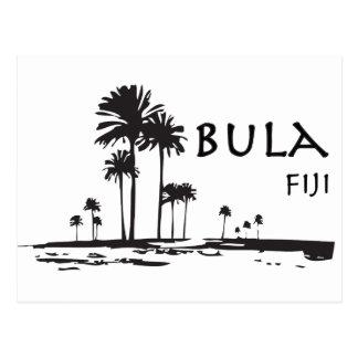 Bula Fidschi Palme-Grafik Postkarte