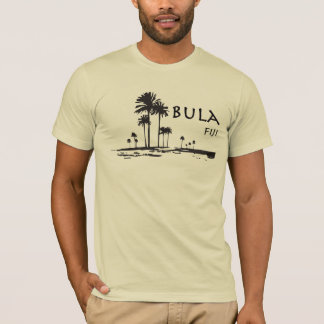 Bula Fidschi Palme-Grafik T-Shirt