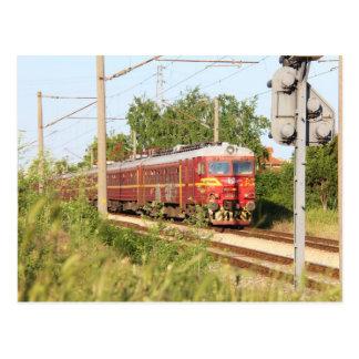 Bulgarischer Personenzug Postkarten
