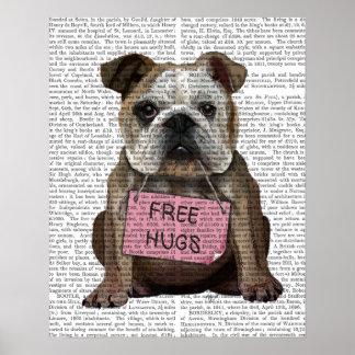 Bulldogge geben Umarmungen frei Poster