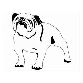 Bulldogge Postkarte