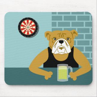 Bulldoggedartboard-Bier-Bar Mousepad