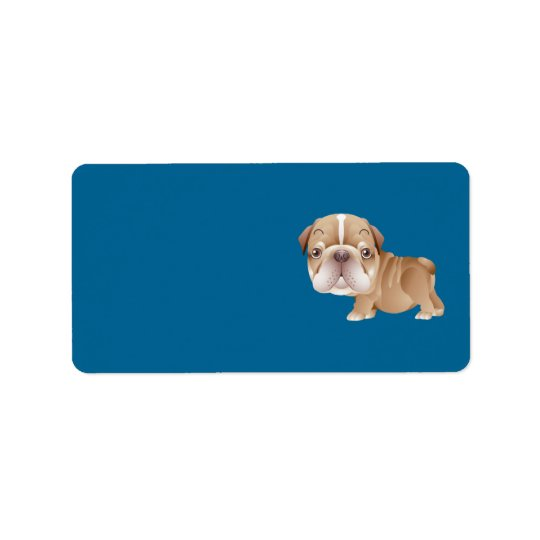 Bulldoggen-Adressen-Etikett Adressaufkleber