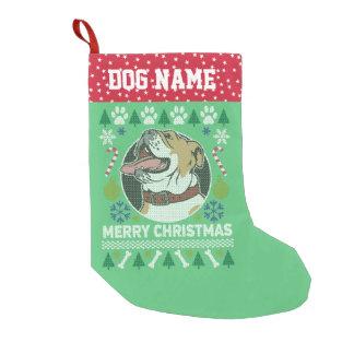 Bulldoggen-Hundezucht-hässliche Kleiner Weihnachtsstrumpf