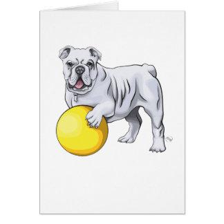 Bulldoggen-Illustrations-Gruß-Karte Karte