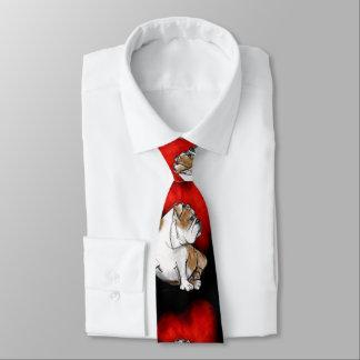 Bulldoggen-Liebe Bedruckte Krawatte