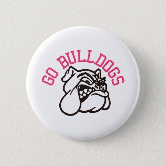Bulldoggen Runder Button 5,1 Cm
