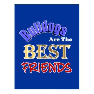 Bulldoggen sind die beste Freund-Postkarte Postkarte