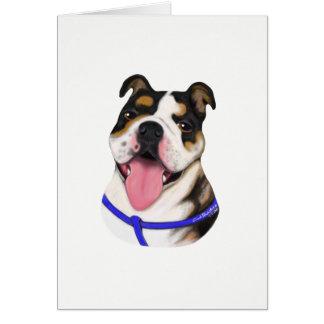 Bulldoggen-Sonderauftrag-Gruß-Karten Grußkarte