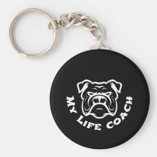 Bulldoggenliebhaberleben-Trainer keychain Schlüsselanhänger