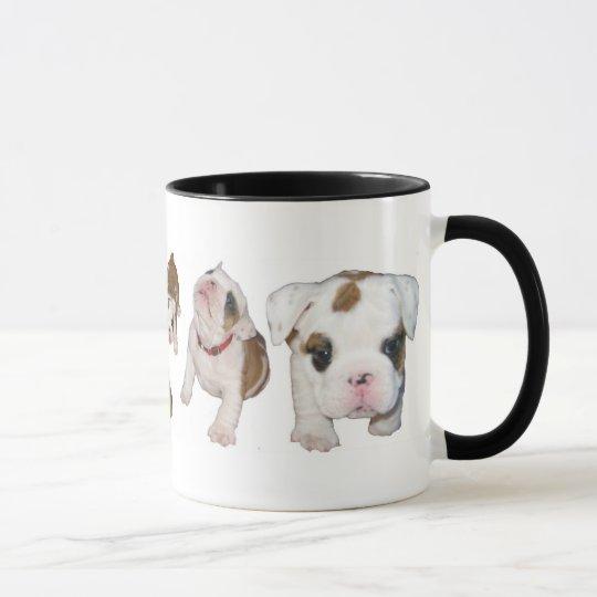 Bulldoggenwelpen-Tasse Tasse