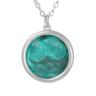 bulles espiègles de turquoise verte collier