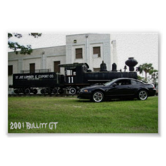 Bullitt Mustang 2001 Poster