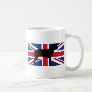 bullmastiff Flaggen-Silhouette Kaffeetasse