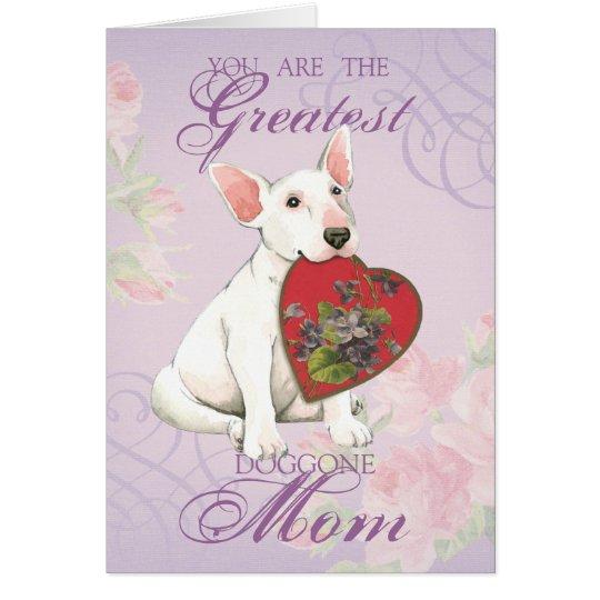 Bullterrier-Herz-Mamma Grußkarte