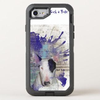 Bullterrier-Nachrichten-Spritzen OtterBox Defender iPhone 8/7 Hülle