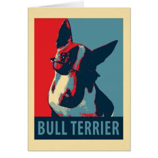 Bullterrier-politische Parodie Grußkarte