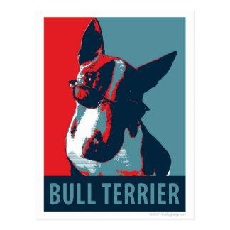 Bullterrier-politische Parodie Postkarte