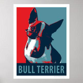 Bullterrier-politisches Parodie-Plakat 18x24 Poster