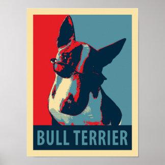 Bullterrier-politisches Parodie-Plakat Poster