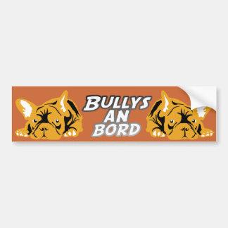 Bullys à bord d'orange autocollant de voiture