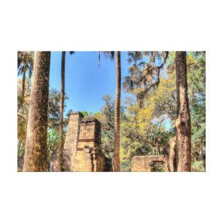 Bulow Plantagen-Ruinen, Florida Leinwanddruck