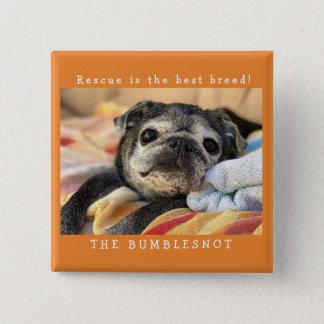 Bumblesnot Knopf: Rettung ist die beste Zucht! Quadratischer Button 5,1 Cm