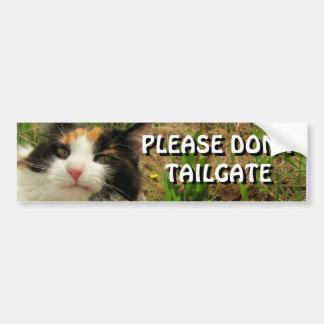 Bumper Cat Wants You To Back Off Meme Autoaufkleber