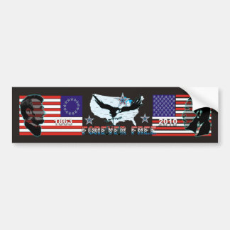 Bumper-sticker-Abe-Obama-Forever-free-2 Autoaufkleber