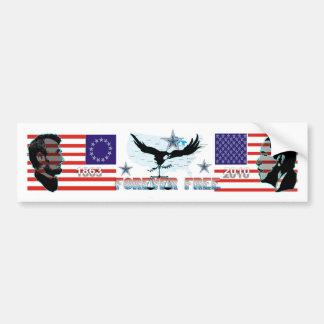 Bumper-sticker-Abe-Obama-Forever-free-3 Auto Aufkleber