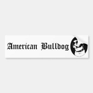 Bumpersticker américain de bouledogue autocollant de voiture