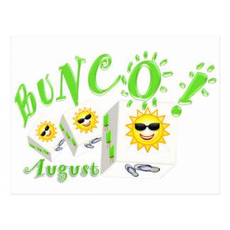 Bunco August Postkarte