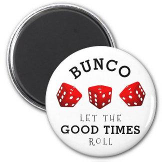 Bunco Spiel Runder Magnet 5,1 Cm