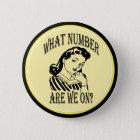 Bunco, welche Zahl wir auf #2 sind Runder Button 5,1 Cm