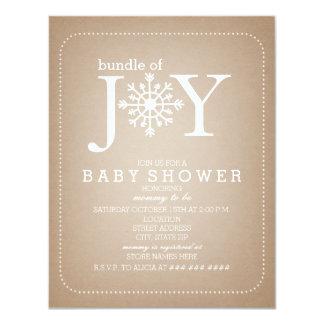 Bündel der Freude-Schneeflocke-Babyparty - Karte