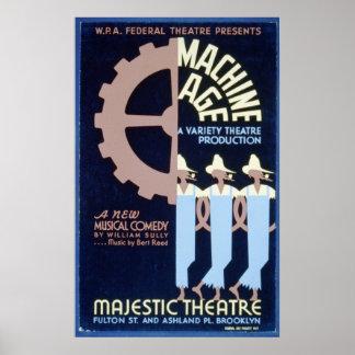 Bundesstaatliches Theater stellt eine musikalische Poster