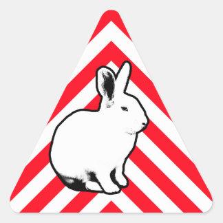 BunnyLuv Kaninchen-Aufkleber 2 Dreieckiger Aufkleber
