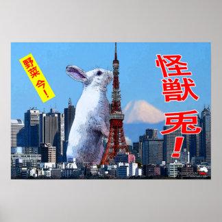 BunnyLuv Monster-Kaninchen! Plakat, das Bianca Poster