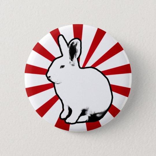 BunnyLuv weißer Runder Button 5,7 Cm