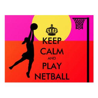 Bunt behalten Sie Ruheund Spielnetball-Zitat Postkarte