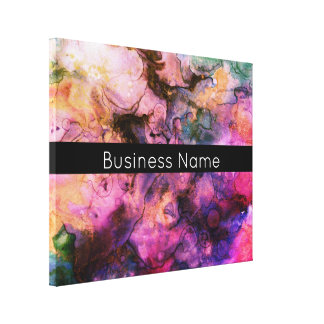 Bunt, Grunge-abstrakte Farbe mit Handelsnamen Leinwanddruck