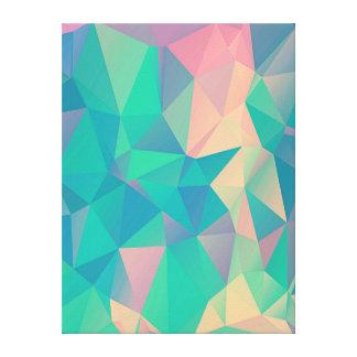 Bunte abstrakte geometrische Dreieck-Form-Formen Leinwanddruck