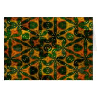 Bunte abstrakte geometrische Entwürfe Karte