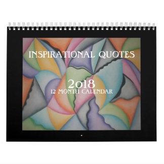 Bunte abstrakte Kunst-Inspirational Kalender 2018