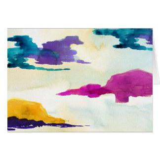 Bunte abstrakte Malerei-Gruß-Karte Karte