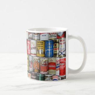 Bunte alte Bier-Dosen Kaffeetasse
