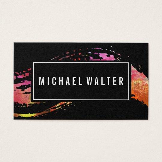 Bunte Aquarell-Farbe gebürstet Visitenkarte
