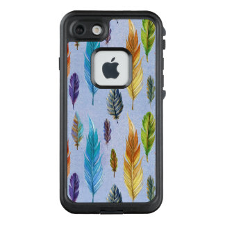Bunte Aquarell-Feder-nahtloses Muster LifeProof FRÄ' iPhone 7 Hülle
