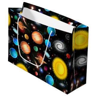 Bunte Astronomie-Raum-Geschenk-Tasche Große Geschenktüte