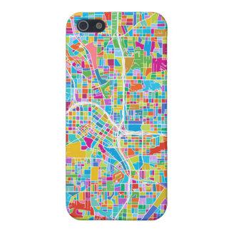 Bunte Atlanta-Karte Hülle Fürs iPhone 5